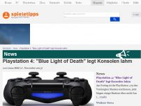 Bild zum Artikel: News: Playstation 4: 'Blue Light of Death' legt Konsolen lahm.