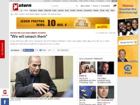 Bild zum Artikel: Interview with Greek Finance Minister Varoufakis: 'We will smash them'