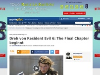 Bild zum Artikel: Es beginnt! - Resident Evil 6: The Final Chapter