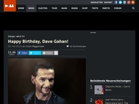 Bild zum Artikel: Happy Birthday, Dave Gahan!