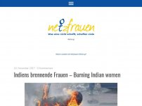 Bild zum Artikel: Indiens brennende Frauen – Burning Indian women